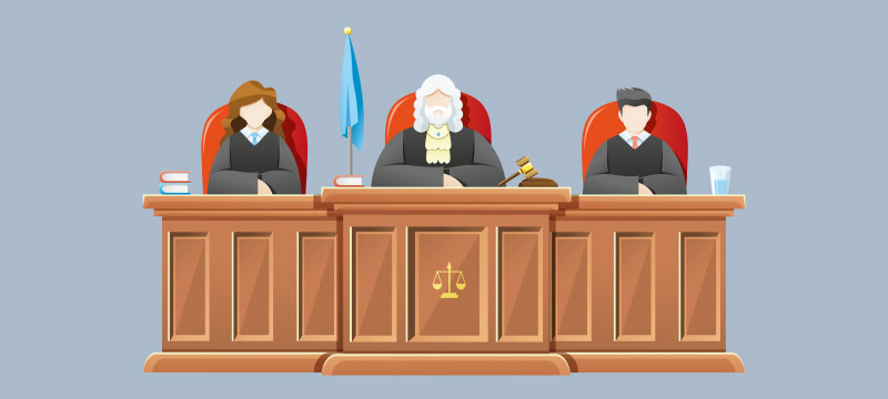 divorce hearing and a divorce trial