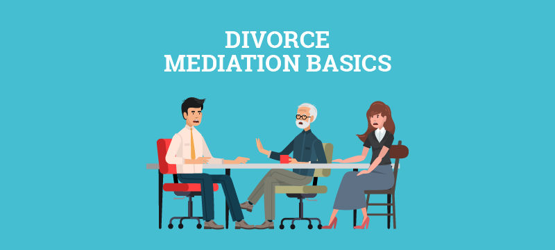 Divorcing couple meeting with a divorce mediator