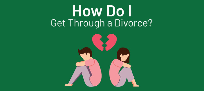 Divorcing couple trying to get through divorce