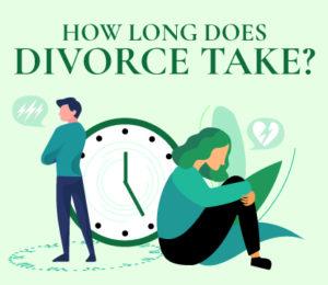 Divorcing couple wondering how long divorce takes