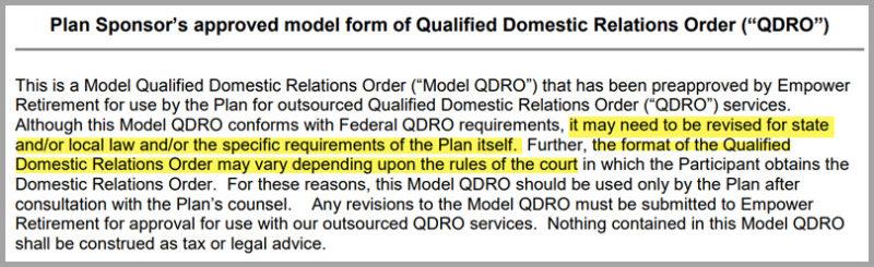 Model QDRO