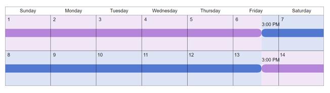 alternating weeks custody schedule