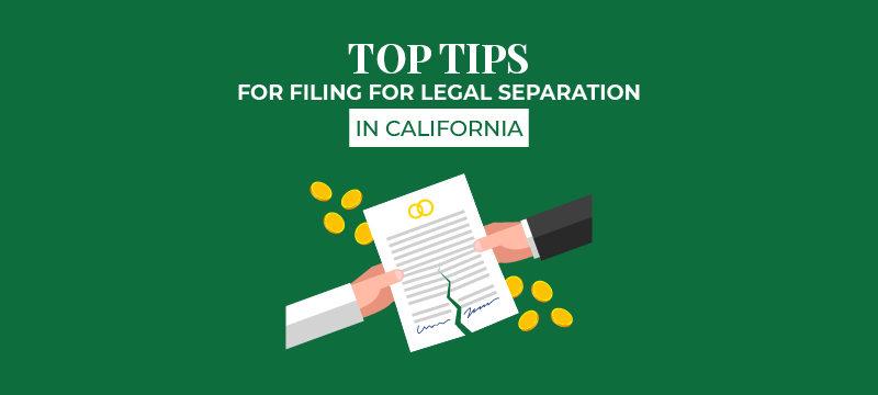 Filing for Legal Separation in California