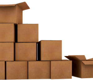 boxes of financial information from divorce discovery process